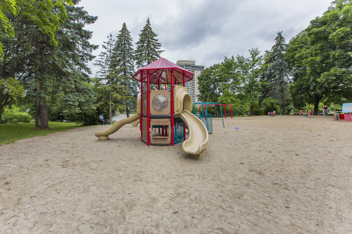 Playground accross in park