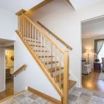 Staircase wood railing
