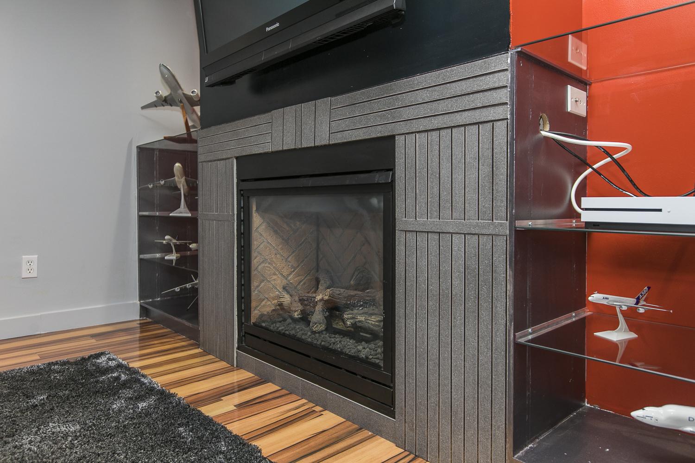 Basement Recreation Room pic 2 -fireplace
