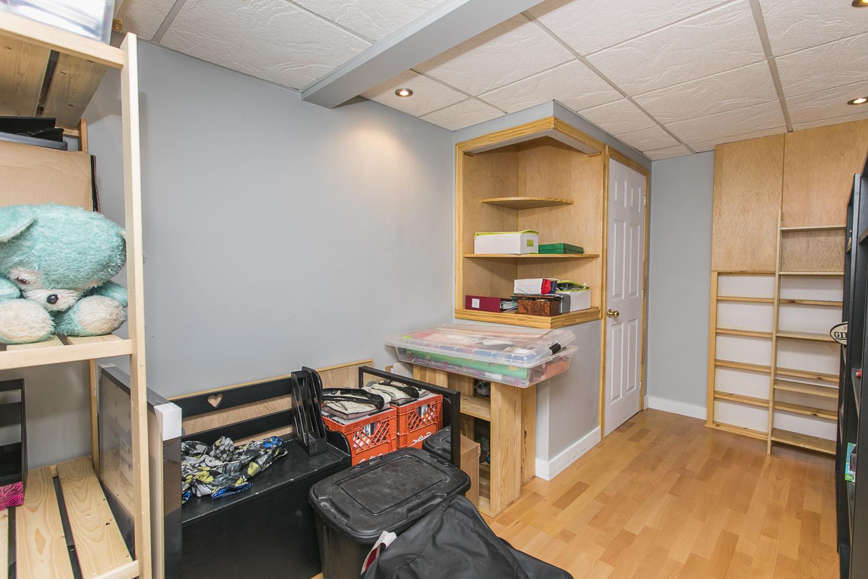 Basement hobby room